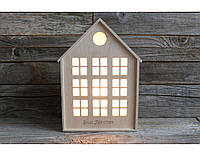 """Оригинальный деревянный ночник, светильник """"Домик"""" с Вашей гравировкой"""