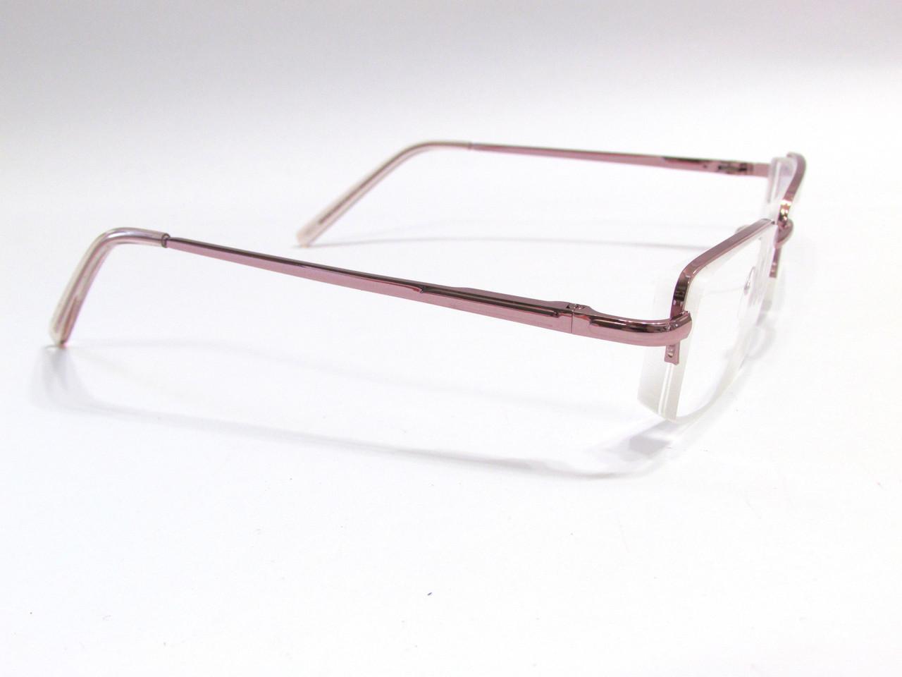 Полуоправные очки с белой линзой