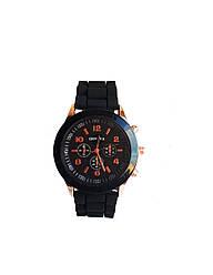 Часы женские Geneva Silicon Черные