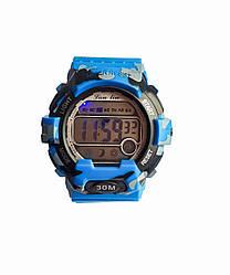Электронные часы LanLin Голубые (SP-0325LBL)