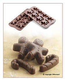 """Форма для шоколада """" Mr. Ginger"""" 43*35 мм h 12 мм Silikomart"""