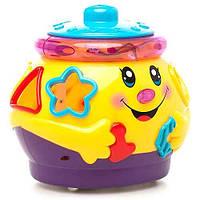 Развивающая игрушка Музыкальный горшочек 0915/2056 горшочек-логика, муз, свет, на батар, в кор-ке