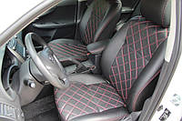 Чехлы на сиденья Ниссан Альмера Классик (Nissan Almera Classic) (модельные, 3D-ромб, отдельный подголовник)