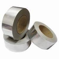 Фольга алюминиевая 40мкм, скотч алюминиевый 75мм *50м