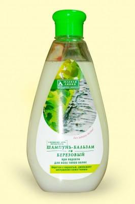 """Шампунь-бальзам """"Березовый"""" при перхоти для всех типов волос 500мл, фото 2"""