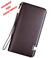 Чоловічий шкіряний гаманець гаманець клатч портмоне Baellerry NEW, фото 1