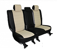 Чехлы на сиденья Рено Клио (Renault Clio) 2002 - ... г (модельные, экокожа Аригон, отдельный подголовник)
