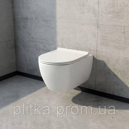Унитаз CERASTYLE City 018700 подвесной с сиденьем Soft Close, фото 2