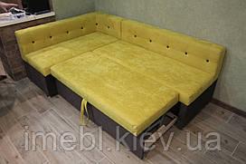 Мягкий кухонный уголок со спальным местом (Желтый)