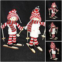 """Новогодняя подвеска """"Девочка на лыжах"""", высота около 15 см., 70/56 (цена за 1 шт. + 14 гр.), фото 1"""
