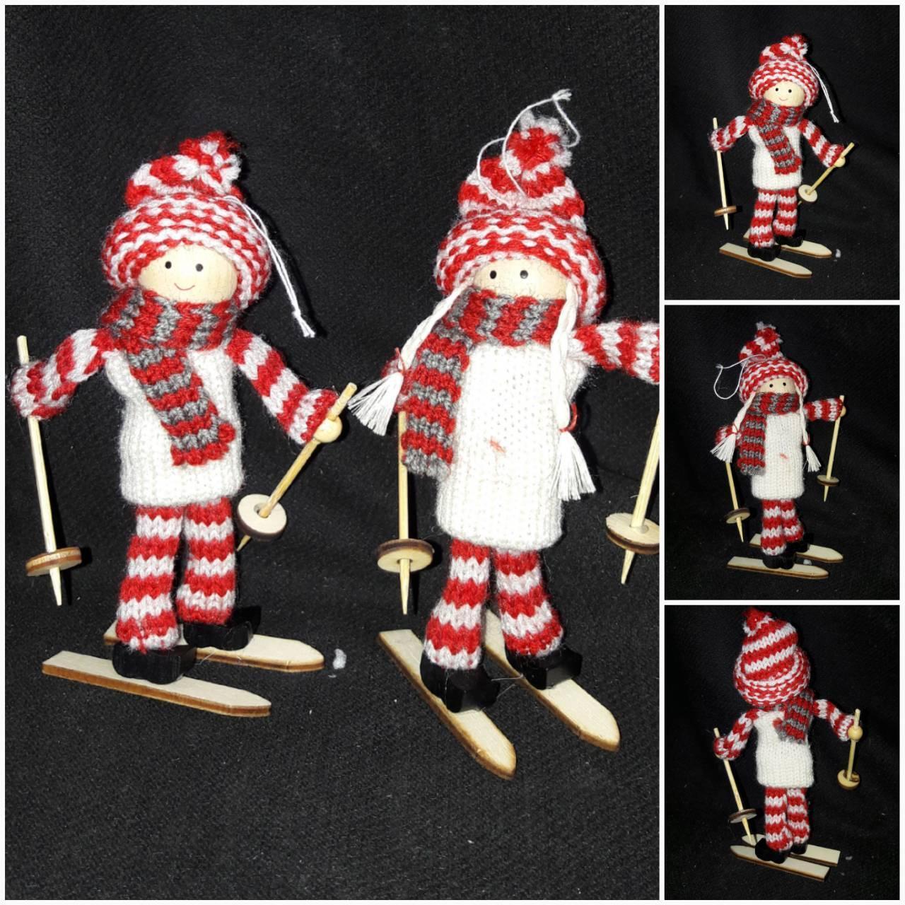 """Красивая игрушка на елку """"Мальчик на лыжах"""", высота около 15 см., 70/56 (цена за 1 шт. + 14 гр.)"""