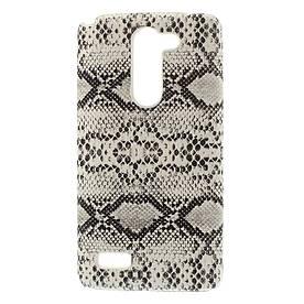 Чехол накладка пластиковый для LG L Bello Dual D335, Белая змея