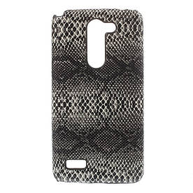 Чехол накладка пластиковый для LG L Bello Dual D335, Черная змея