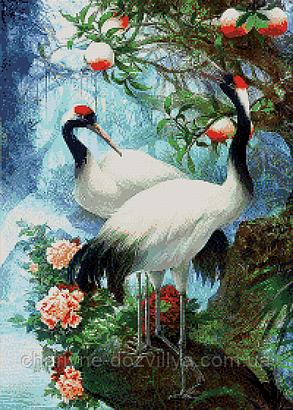 """Набор алмазной вышивки (мозаики) """"Журавли-символ любви и счастья"""", фото 2"""