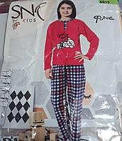 """Детская пижама """"SNC"""" на девочку,Турция,флис"""