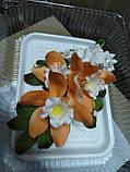 Букет орхідеї великої з листками і дзвіночками L 250, фото 3