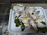 Букет орхідеї великої з листками і дзвіночками L 250, фото 8