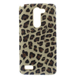 Чехол пластиковый для LG L Bello Dual D335, Леопард