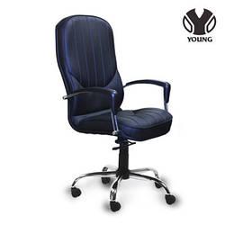 Кожанное кресло для руководителя -Елит (ткань, экокожа, натуральная кожа)