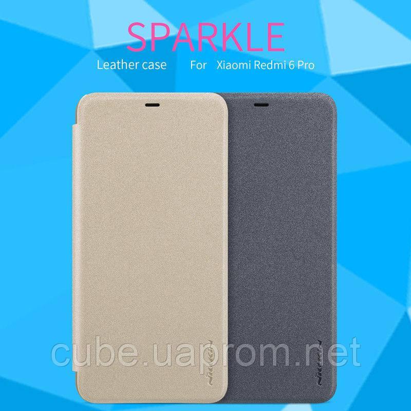 Захисний Фліп чохол Flip Case Nillkin для Xiaomi Redmi 6 Pro Mi A2 Lite