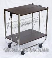 Сервировочный столик-тележка с ярусом для бутылок SC-5119-MDF
