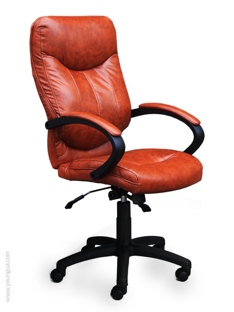 Кресло для руководителя с эргономичной спинкой -Монтерей (натуральная кожа, экокожа)
