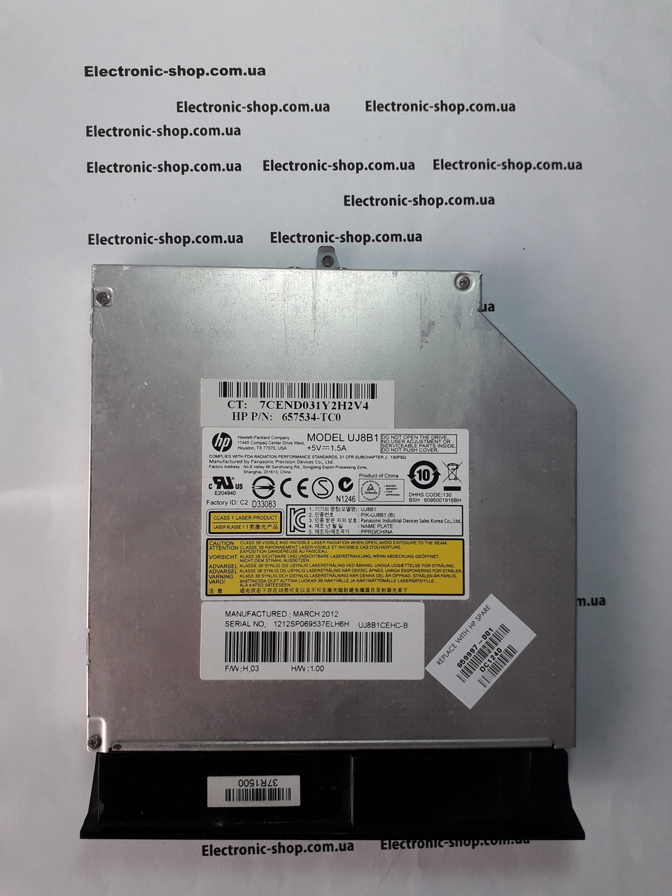 DVD привод  Sata Uj8B1  оригинал б.у.