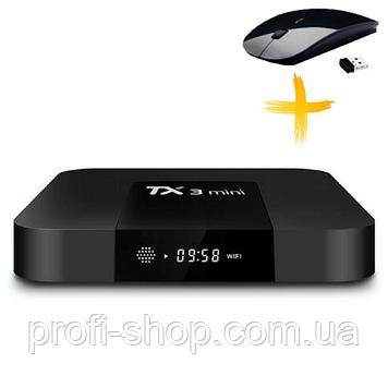 Смарт ТВ приставка, Android TV Box AmiBox Tanix TX3 Mini 1Гб/8Гб