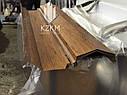 Парапетная планка под дерево, накрывка парапета, крышка парапетная, крышки парапета, фото 4