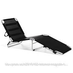 Шезлонг пляжный эксклюзивый дизайн AMIGO коричневый