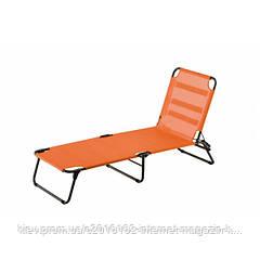 Шезлонг пляжный эксклюзивый дизайн AMIGO оранжевый