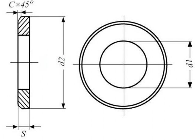 Конструкция шайбы ГОСТ 9065