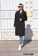 Пальто женские на запах 1016 Ем Код:795263568