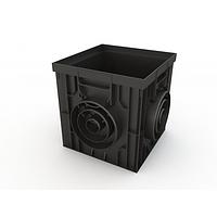 Пластиковый дождеприемник 300х300 (чёрный)