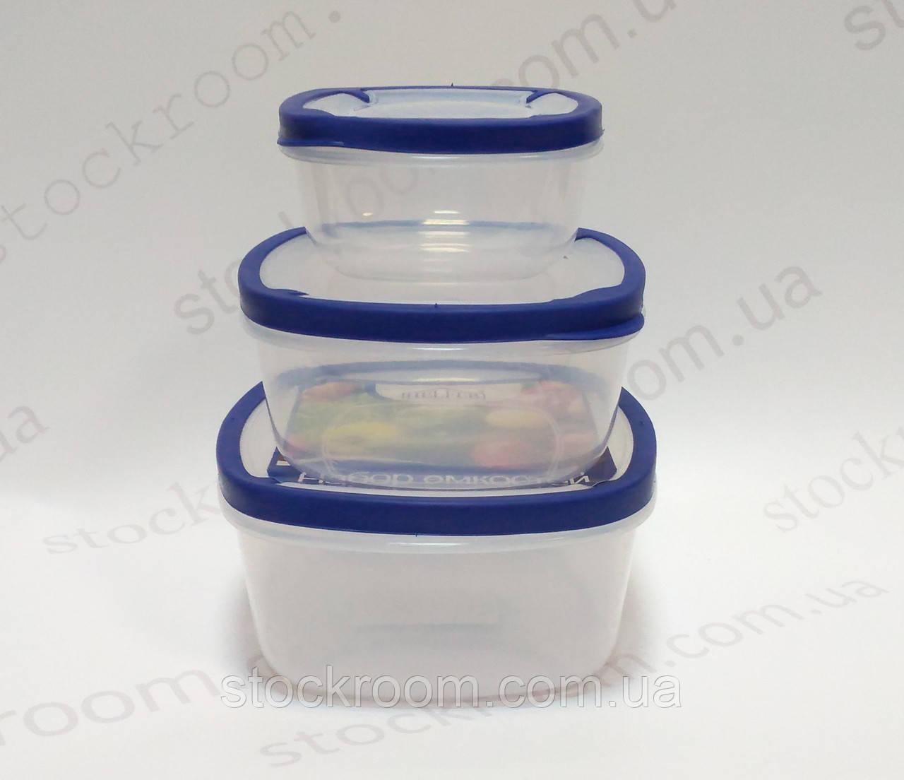 Емкости для хранения продуктов Helfer 45-169-008 квадратные 500/1000/1500