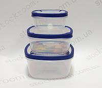 Емкости для хранения продуктов Helfer 45-169-008 квадратные 500/1000/1500, фото 1