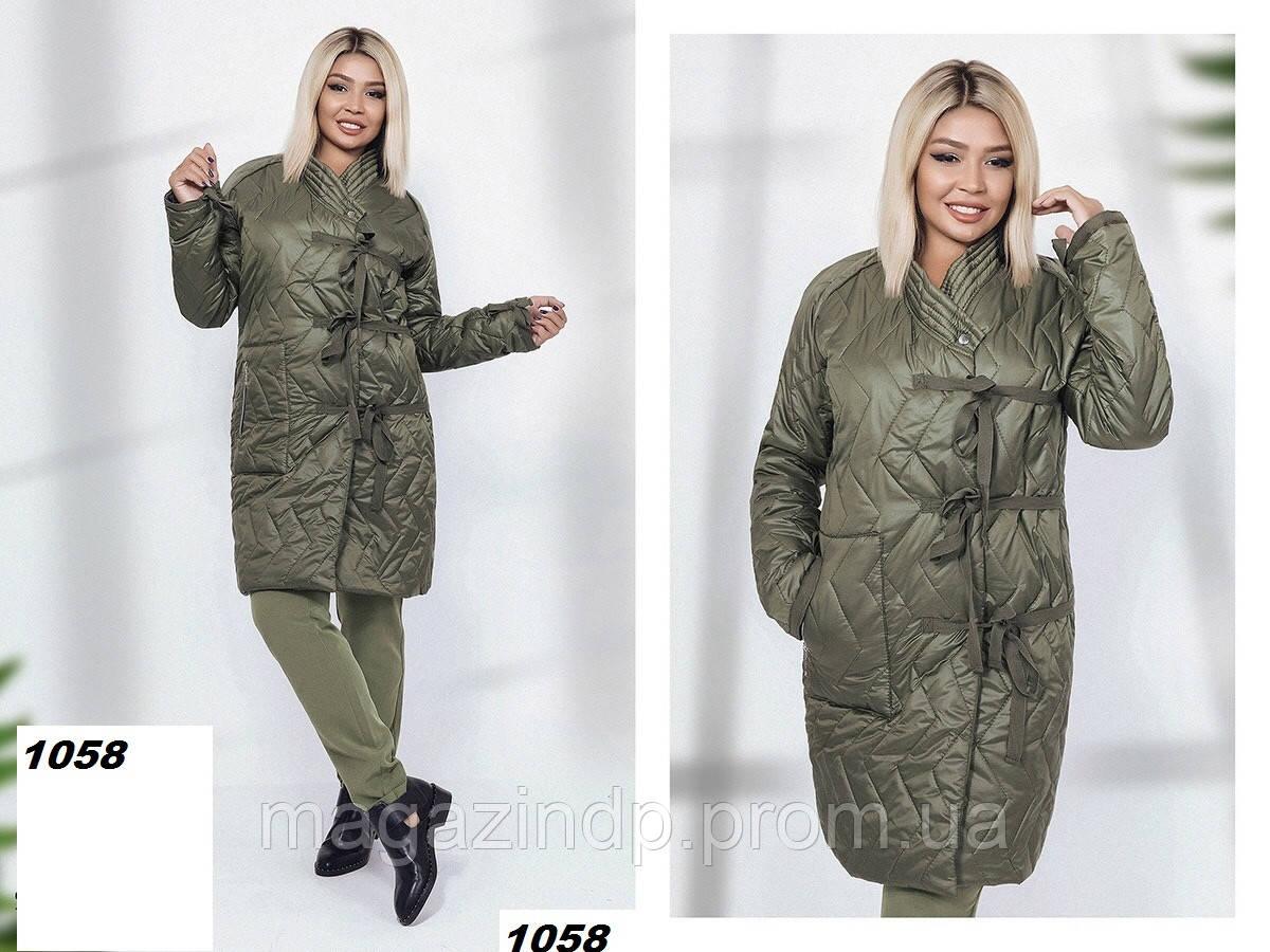 Стеганная куртка женская с 42 по 52 размеры 1058 (29) Код:789251833