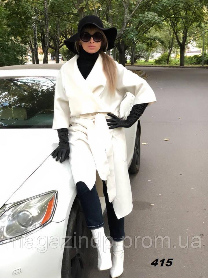 Пальто женское с запахом 415 Ем Код:789068500