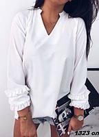 Рубашка женская рукав с рюшей 1323 Ол Код:784843017