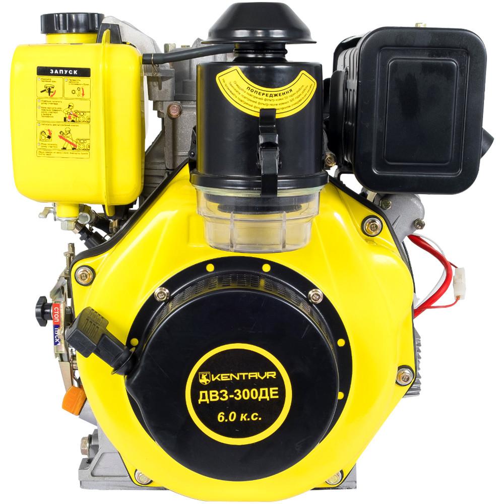 Двигатель дизель, шпонка, 6 л.с., электростартер Кентавр ДВЗ-300ДЕ
