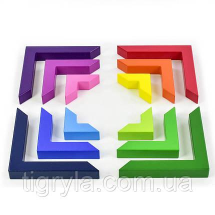 Деревянная логическая игра Уголки, фото 2