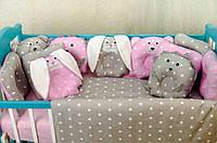"""Набор постельного белья с подушками и одеялом в кроватку """"Лесные звери"""""""