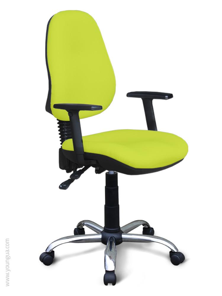 Крісло компьюторное з ергономічною спинкою - Ерго (тканина, екошкіра)