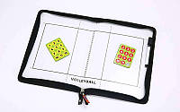 Доска тактическая волейбольная, р-р 42см x 28,5см, планшет на молнии, фишки, маркер (C-5933)