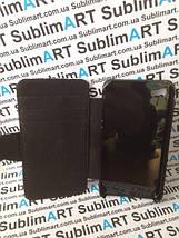 Чехол-книжка для 2D сублимации кожанный на Iphone 4/4S черный, фото 2