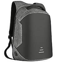 Рюкзак Baibu c защитой от карманников с USB, серый, фото 1