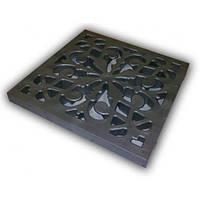 Решетка к дождеприемнику декоративная пластиковая (металлик)