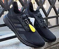 Беговые мужские черные кроссовки Adidas Duramo 9 B96578