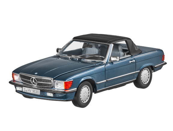 Модель авто Mercedes-Benz 300 SL R 107 (1985-1989), Lapis Blue, Scale 1:18, (B66040634)