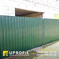 Зеленый профнастил ПС 20 RAL 6005 0.30 мм. для забора, стен, ворот и калитки, фото 2
